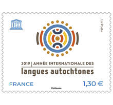 Timbre - Unesco - 2019 Année Internationale des langues autochtones