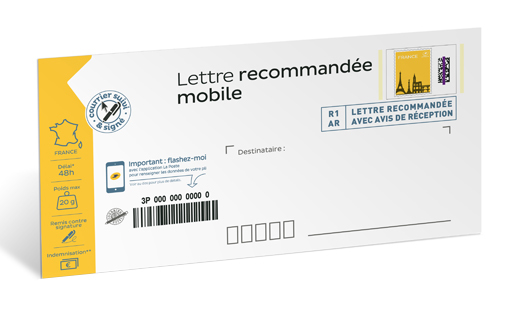 Pret A Poster Lettre Recommandee Mobile 20g Enveloppe