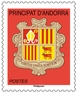 Timbre - Andorre - Blason Rouge TVP - Lettre prioritaire