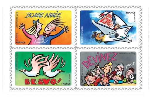 carnet bonne ann e toute l 39 ann e 12 timbres autocollants boutique particuliers la poste. Black Bedroom Furniture Sets. Home Design Ideas
