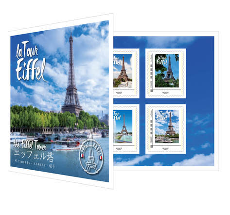 Collector 4 timbres - Tour Eiffel - 2018 - International - Lettre prioritaire