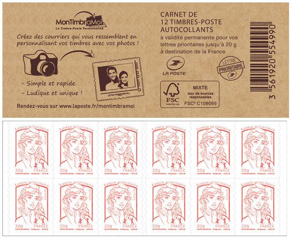 carnet de 12 timbres marianne rouge couverture montimbramoi boutique particuliers la poste. Black Bedroom Furniture Sets. Home Design Ideas