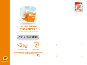 Enveloppe de r exp dition grand format vacances for La poste reexpedition courrier temporaire