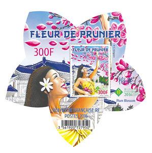 Polynésie Française - Bloc Fleur de Prunier