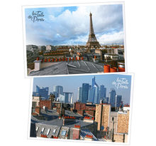 Lot de 6 cartes postales - Toits de Paris - Arc de Triomphe