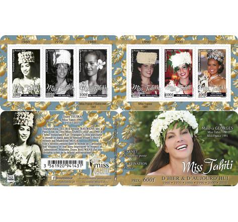 Carnet 6 timbres - Polynésie Française - Carnet Miss Tahiti - 2021