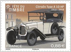 Timbre - Fête du timbre - Voitures de style - Citroën A 10 HP