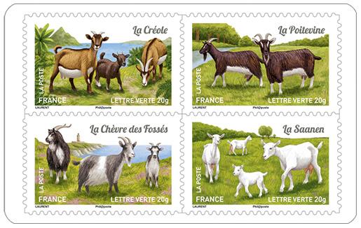 carnet les ch vres de nos r gions 12 timbres autocollants boutique particuliers la poste. Black Bedroom Furniture Sets. Home Design Ideas