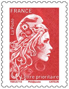 Timbre Marianne l'engagée - Rouge