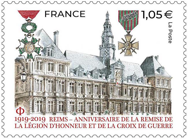 Reims - Anniversaire de la remise de la légion d'honneur et de la croix de guerre