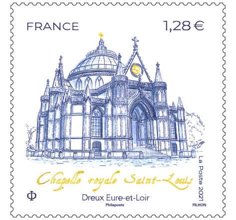 Chapelle Royale - Dreux - Lettre prioritaire