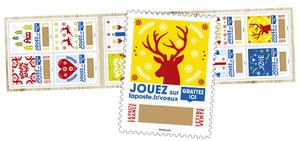 Carnet de timbres à gratter - Plus que des vœux - 12 timbres autocollants