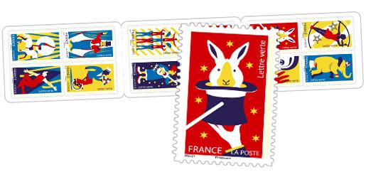 Carnet - Les arts du cirque - 12 timbres autocollants