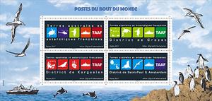 TAAF - Bloc souvenir - Postes du bout du monde
