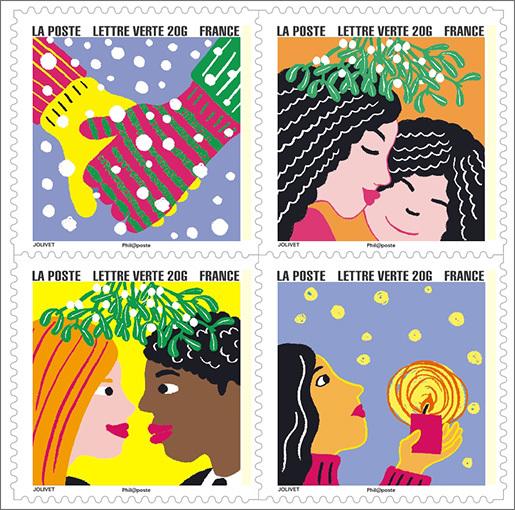 carnet bonne ann e 12 timbres autocollants boutique particuliers la poste. Black Bedroom Furniture Sets. Home Design Ideas