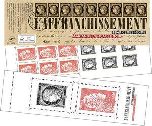 Carnet Ceres - Salon d'Automne - 14 timbres autocollants