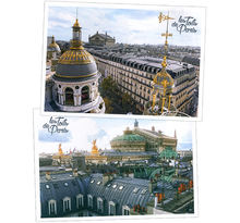 Lot de 6 cartes postales - Toits de Paris - Opéra de Paris