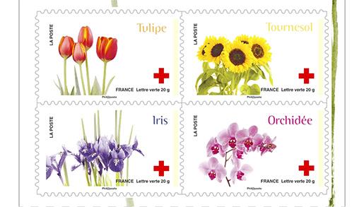 carnet croix rouge l 39 amour en 10 fleurs 10 timbres autocollants boutique professionnels. Black Bedroom Furniture Sets. Home Design Ideas