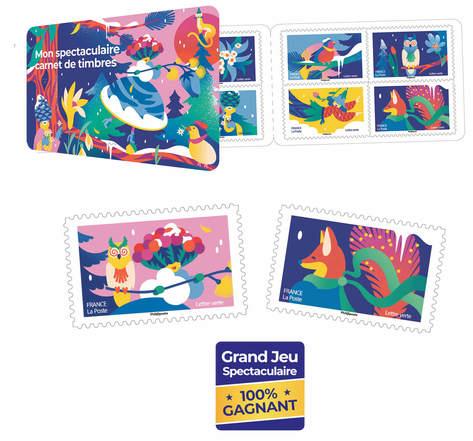 Carnet 12 timbres - Edition Noël spectaculaire - Lettre Verte