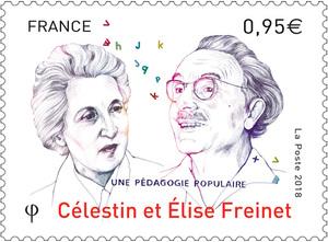 Timbre - Célestin et Elise Freinet