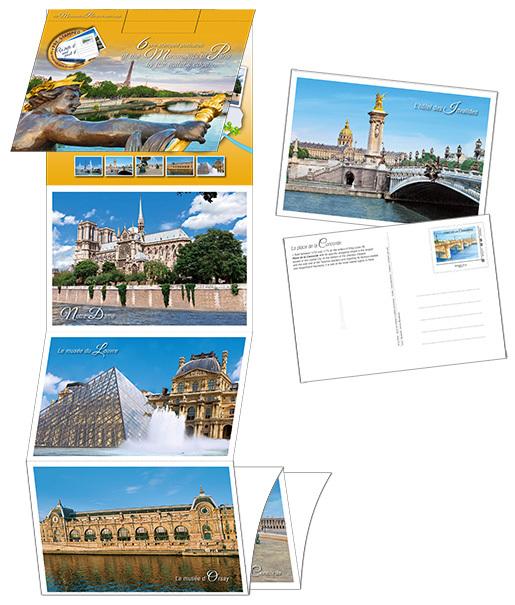 Lot de 6 cartes postales timbrées - Ponts de Paris - Monde | Boutique Particuliers La Poste