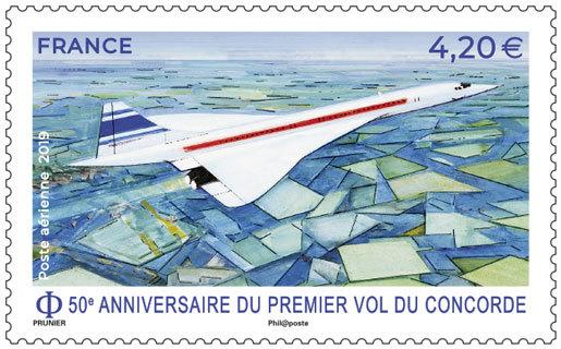 Timbre - 50 ans du premier vol du Concorde
