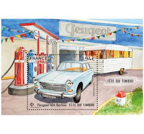 Fête du timbre - Peugeot 404 Berline - Lettre Verte