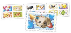 Carnet - Emoji - 12 timbres autocollants