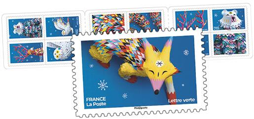 Carnet - Fantastique - 12 timbres autocollants