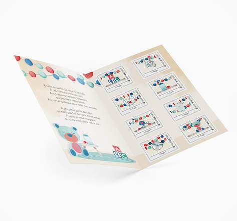 Collector 8 timbres - Naissance - Lettre Verte