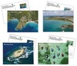 Lot de 4 cartes postales timbrées - Martinique
