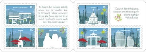 Carnet 6 timbres - Icones de la Nouvelle Calédonie