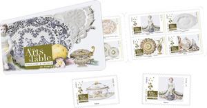 Carnet - Arts de la table - 12 timbres autocollants
