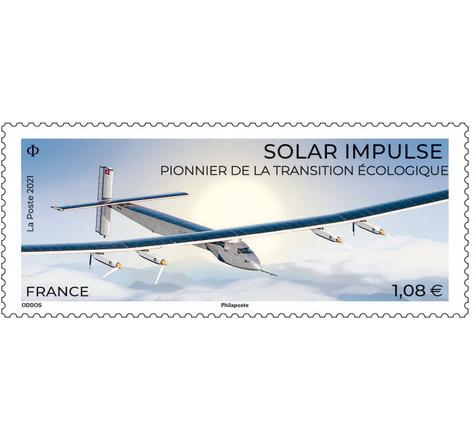 Timbre - Solar Impulse - Lettre verte