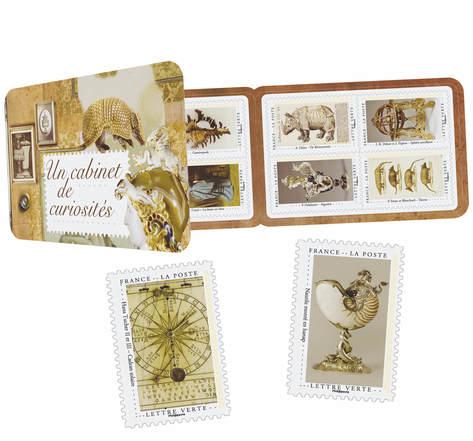 Carnet 12 timbres - Cabinet de curiosité - Lettre Verte