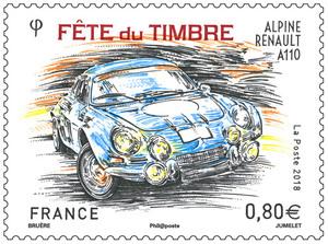 Timbre - Fête du timbre - Alpine Renault A110