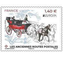 Timbre - Europa Anciennes Routes Postales - International