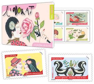 carnet l 39 odorat 12 timbres autocollants boutique particuliers la poste. Black Bedroom Furniture Sets. Home Design Ideas