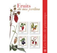 Collector 4 timbres - Les fruits de printemps - Lettre Verte