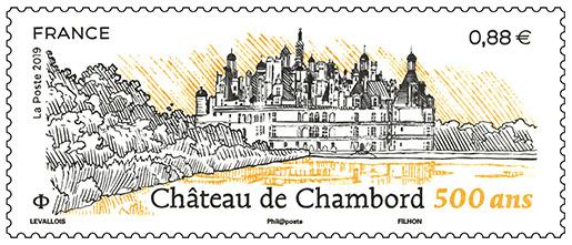 Timbre - Château de Chambord - 500 ANS