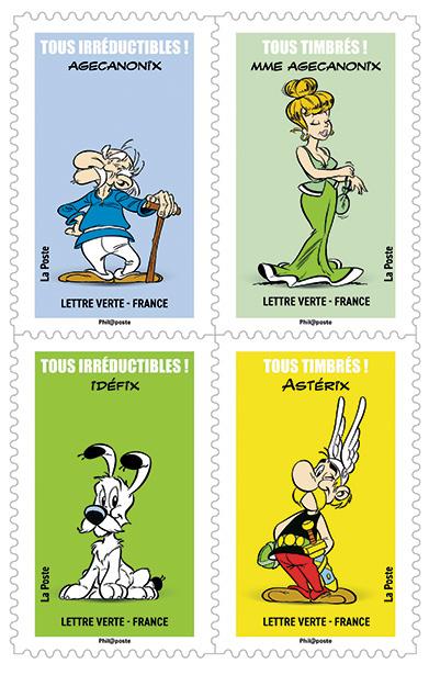 Carnet - Astérix - 12 timbres autocollants
