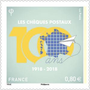 Timbre - Centenaire des chèques postaux