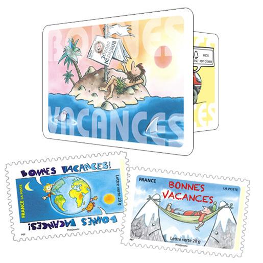 Carnet bonnes vacances beaux timbres envoi simple envoi suivi la bo - Poste suivi courrier demenagement ...