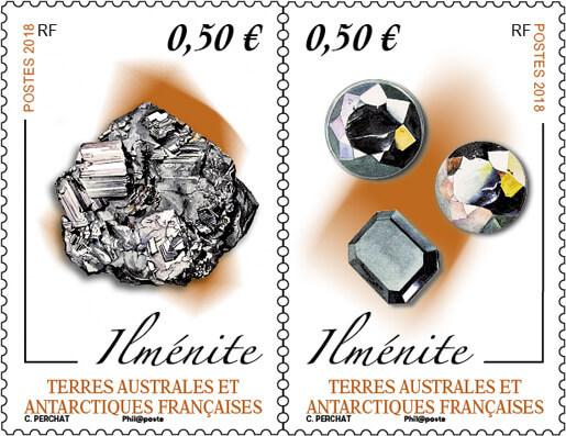 """Résultat de recherche d'images pour """"timbre Ilmenite (minéral) terres Australes"""""""