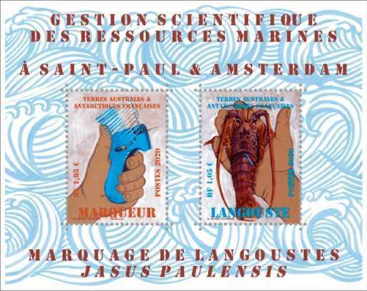 TAAF - Bloc Langouste de Saint Paul