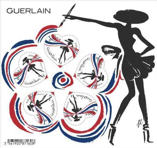 Bloc cœur - Guerlain - 5 timbres gommés