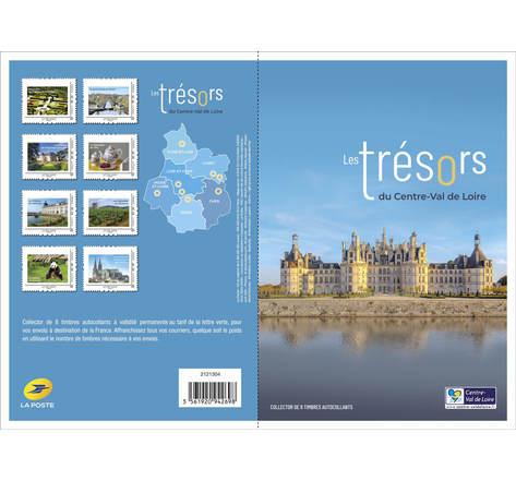 Collector 8 timbres - Les trésors du Val de Loire - Lettre Verte