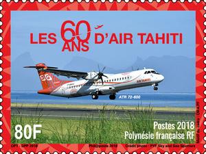 Polynésie Française - 60 ans Air Tahiti - 80F
