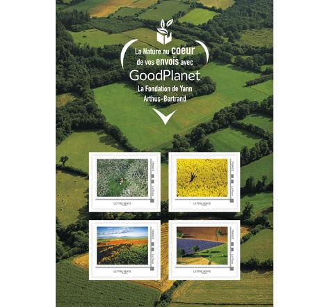 Collector 4 timbres - Yann Arthus-Bertrand - Lettre Verte