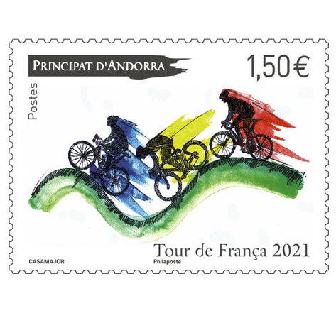 Timbre Andorre - Tour de Franca